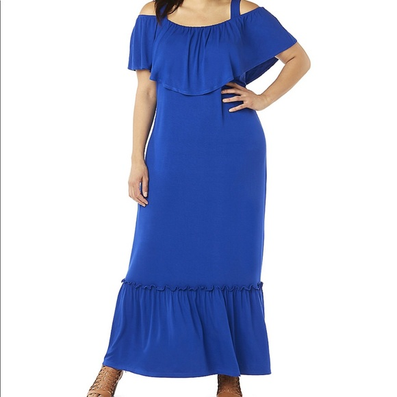 81d99380517 Catherines Dresses   Skirts - Catherines cold shoulder maxi dress